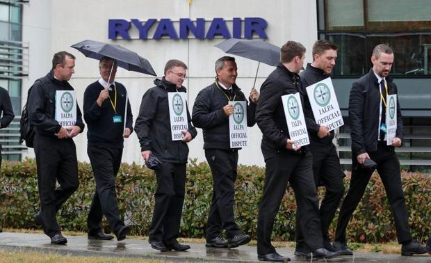 Action: The walkout by Irish-based Ryanair pilots in 2018 cost the airline €120m. Photo: Colin Keegan/Collins
