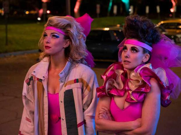 Betty Gilpin and Alison Brie in season 3 of Glow on Netflix