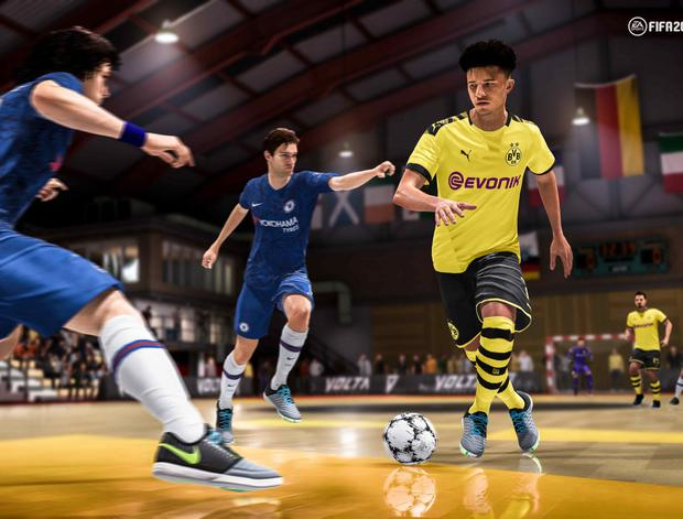 FIFA 20 features a new street football mode called Volta