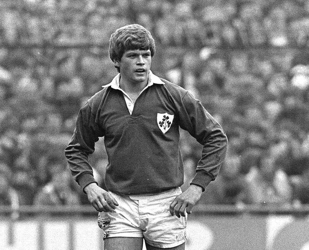 Trevor Ringland in action for Ireland in a Five Nations Rugby Championship clash with Wales at Cardiff Arms Park on March 1983. Photo: Ray McManus / SPORTSFILE