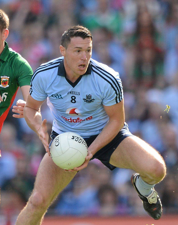 Dublin's Eamon Fennell in action in the 2012 All-Ireland semi-final against Mayo