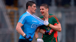 Diarmuid Connolly and Lee Keegan in 2016. Photo: Sportsfile