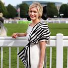 Anne Marie Dunning from Roseberry, Newbridge Co Kildare who won the Best Dressed Lady Competition at Ladies Day at the Dublin Horse Show at the RDS. Picture: Steve Humphreys