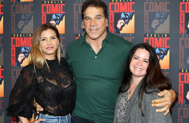Lou Ferrigno, Charisma Carpenter and Holly Marie Combs from 'Charmed' ahead of Dublin Comic Con. Picture: Steve Humphreys