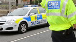 Garda car. Stock picture