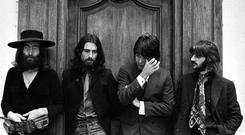 Poignant moment... Last photo of The Beatles together, and Paul seems to be wiping away a tear.
