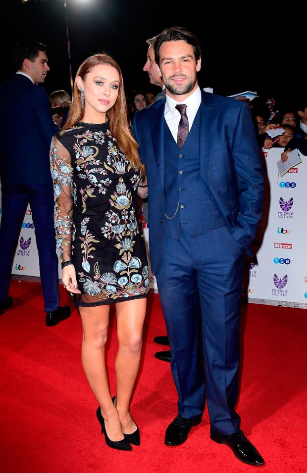Una Healy and Ben Foden. Photo: Ian West/PA