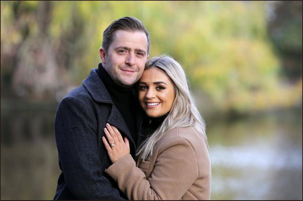 Actor George McMahon, who plays Mondo in RTE's Fair City, with his bride-to-be Rachel Smyth