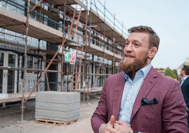 Conor McGregor at the construction site in Santry in a photo he recently posted on Instagram
