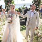 Matt Bellamy shared this picture from his wedding to Elle Evans