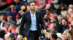 Frank Lampard condemned to a heavy defeat in his first Premier League game as Chelsea manager (Getty)