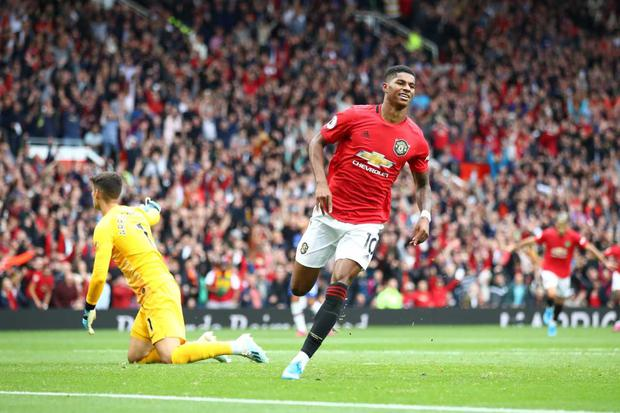 Marcus Rashford caught the eye with two goals in United's rampant win (Getty)