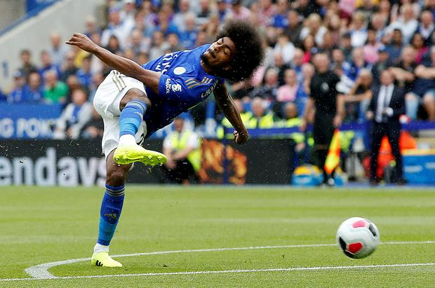 Leicester City's Hamza Choudhury in action. Photo: Reuters/Andrew Yates