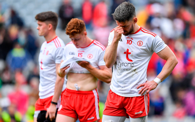 Mattie Donnelly and Conor Meyler try to digest their semi-final defeat to Kerry. Photo by Brendan Moran/Sportsfile