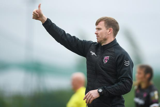 Wexford Youths manager Tom Elmes. Photo: Harry Murphy/Sportsfile