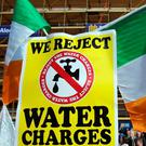 Lessons of the past: Anti-water charges protesters march through Dublin city centre in March 2015. Photo: AFP/Getty Images