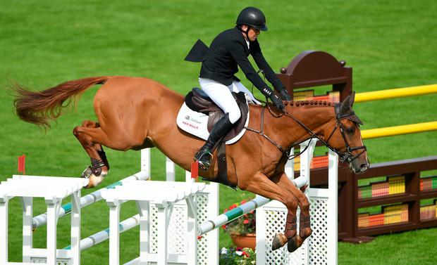 Winning partnership: Shane Breen and Ipswich Van De Wolfsakker were on the mark in the final-day feature at the Dublin Horse Show. Photo: Matt Browne/Sportsfile