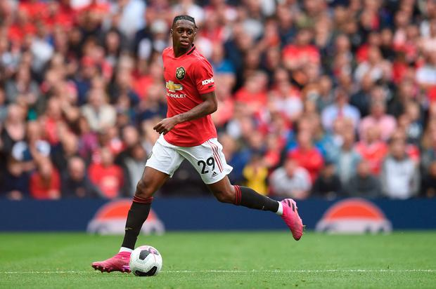 Aaron Wan-Bissaka also looked comfortable in his new surroundings. Photo: Getty Images