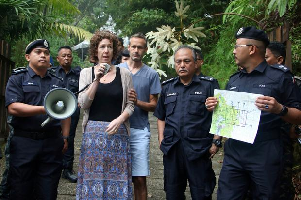 Meabh Quoirin addresses the media and thanks search teams for their efforts in trying to find her daughter Nora. Photo: The Royal Malaysia Police via AP