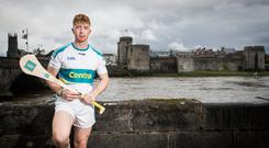 In advance of the GAA All Ireland Hurling Final on Sunday 19th August, Centra Ambassador and 2018 All Ireland Champion, Cian Lynch is pictured at King John's Castle in his hometown of Limerick. ©INPHO/Tommy Dickson