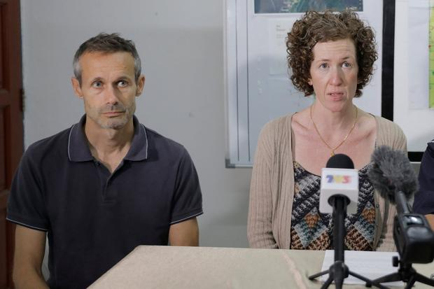 Devastated: Sebastien and Meabh Quoirin, parents of 15-year-old Nora, speak at a news conference in Seremban, Malaysia. Photo: Royal Malaysia Police/Handout via REUTERS