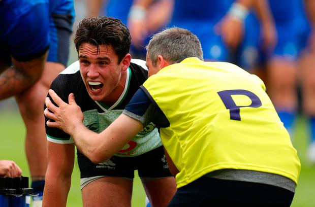 Joey Carbery faces a race to recover from an ankle injury picked up against Italy
