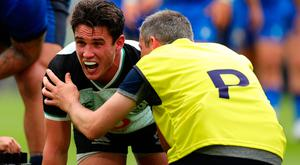 Joey Carbery faces a race to recover from an ankle injury picked up against Italy last Saturday. Photo: Getty