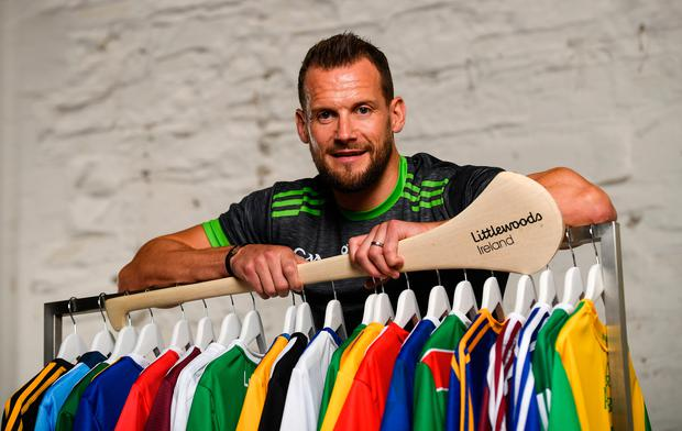 Hurling legend Jackie Tyrrell has collaborated with Littlewoods Ireland to design a bespoke O'Neill's jersey ahead of the 2019 All-Ireland Hurling Final. The jersey is to celebrate the launch of a range of official GAA county jerseys available on LittlewoodsIreland.ie in partnership with the GAA and O'Neills. Photo: Ramsey Cardy/Sportsfile