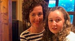 Ordeal: Nora Quoirin (15) with her Belfast-native mother Meabh. Photo: Family Handout/PA Wire
