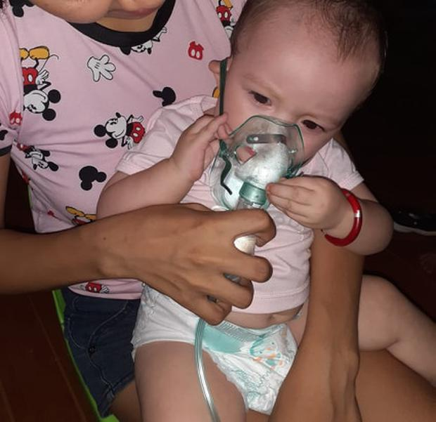 His 11-month-old baby is currently suffering form pneumonia