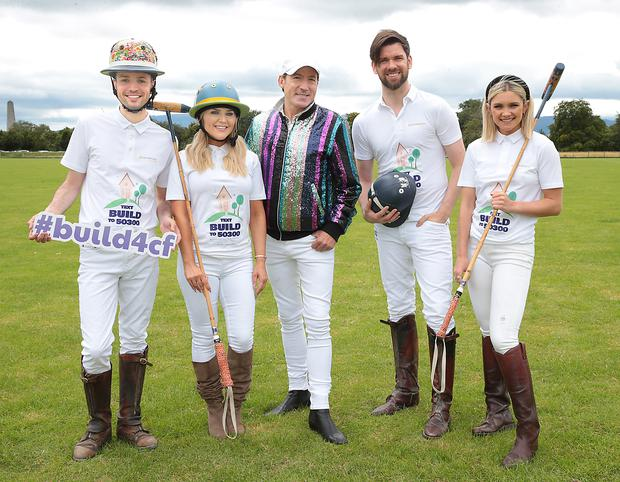 James Kavanagh, Erin McGregor, Julian Benson, Eoghan McDermott and Niamh Cullen pictured at the the launch of the annual International Ladies Polo Day event Picture Brian McEvoy