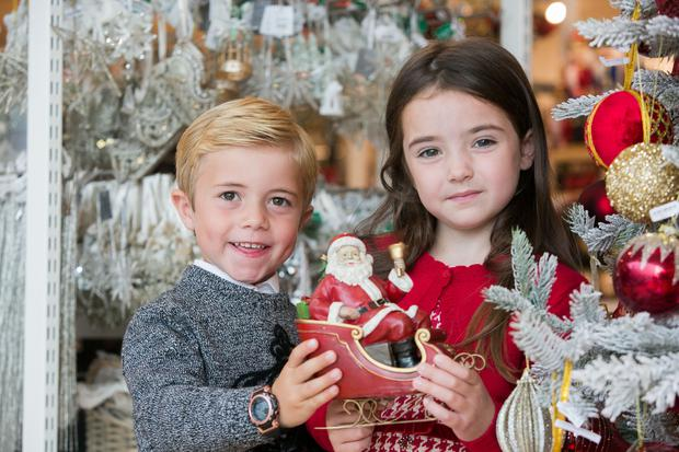Shane O'Connor & Saoirse Murphy during the unveiling of Brown Thomas Christmas Shop Photo: Gareth Chaney/Collins