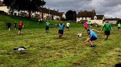 Action for a recent Jumpers For Goalposts game