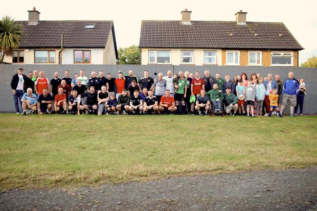 A big turn-out at a Jumpers For Goalposts game recently