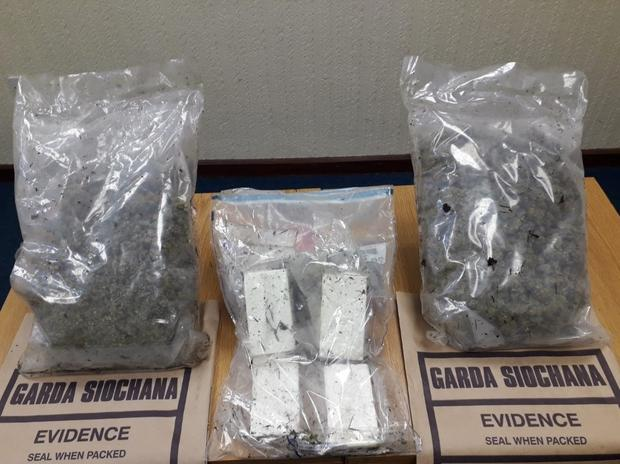 Gardaí seized cocaine and cannabis worth 110,000 when they stopped a car in Co Tipperary yesterday.