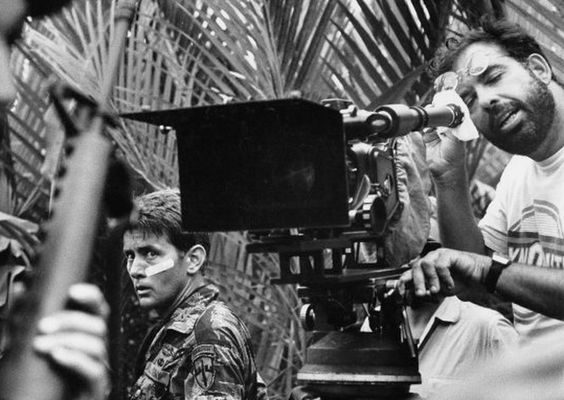 Francis Ford Coppola films a scene from Apocalypse Now with Martin Sheen