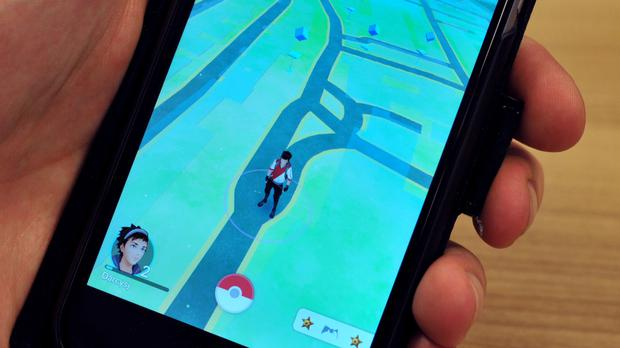 A view of the Pokemon Go app on a phone (PA)