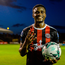 Andre Wright of Bohemians poses with the match ball after scoring four goals during the SSE Airtricity League Premier Division match between Bohemians and UCD at Dalymount Park in Dublin. Photo by Sam Barnes/Sportsfile