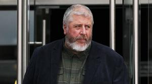 Convicted paedophile Tom Humphries arriving at court