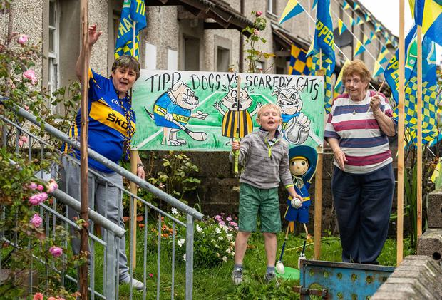 Yvonne, Oisin (7) and Eileen Norris. Photo: Dylan Vaughan