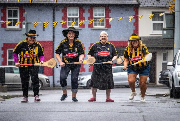 Up for the final: Kilkenny fans Veronica Maher, Ann Duggan, Dolly Maher and Pauline Clowry showing their support for the Cats. Photo: Dylan Vaughan