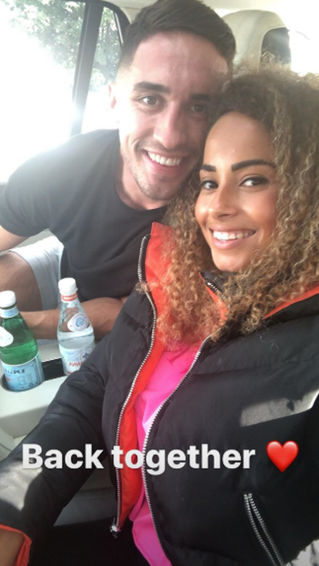 Amber and Greg are reunited in Ireland. PIC: Amber Gill/Instagram