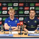 Leinster head coach Leo Cullen and Sean O'Brien
