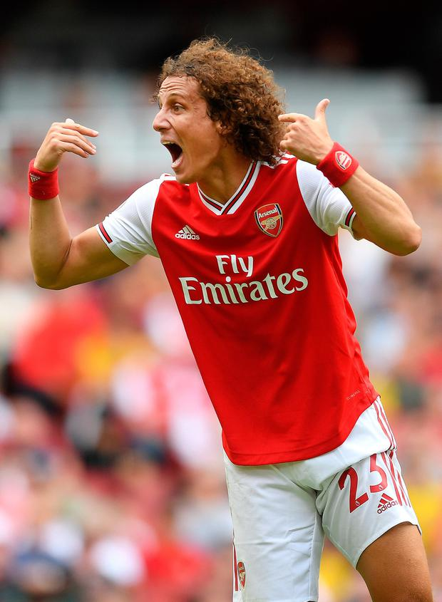 David Luiz during the Premier League win over Burnley. Photo: Michael Regan