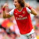 David Luiz during yesterday's Premier League win over Burnley. Photo: Michael Regan