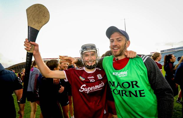 Galway's Carrie Dolan celebrates after the game Mandatory Credit ©INPHO/Ryan Byrne
