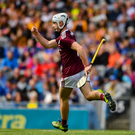 Sean McDonagh of Galway celebrates scoring a goal in the 47th minute of the Electric Ireland GAA Hurling All-Ireland Minor Championship Final match between Kilkenny and Galway at Croke Park in Dublin. Photo by Ray McManus/Sportsfile