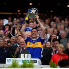 Tipperary captain Séamus Callanan lifts the Liam MacCarthy cup