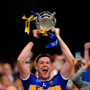 Tipperary captain Séamus Callanan lifts the Liam MacCarthy cup after the GAA Hurling All-Ireland Senior Championship Final match between Kilkenny and Tipperary at Croke Park in Dublin. Photo by Seb Daly/Sportsfile