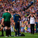 Kilkenny manager Brian Cody after Richie Hogan of Kilkenny fouls Cathal Barrett of Tipperary during the GAA Hurling All-Ireland Senior Championship Final match at Croke Park in Dublin. Photo by Eóin Noonan/Sportsfile